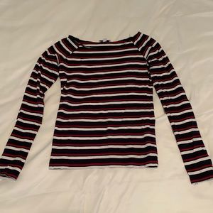 Subdued Striped Long Sleeve Top